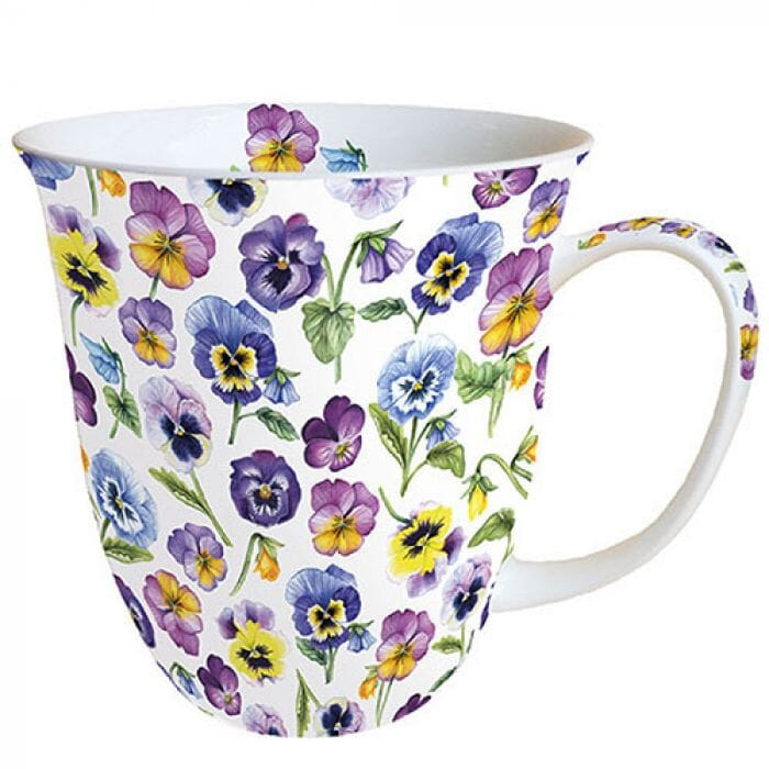 Ambiente Kaffeetasse Pansy All Over 400ml
